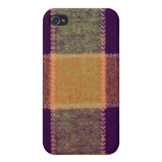 Cozy Warm Plaid Pern Case For iPhone 4