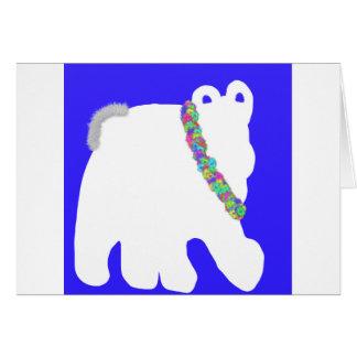 Cozy white polar bear blank greeting card
