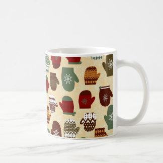 Cozy Winter Christmas Holiday Mittens Coffee Mug