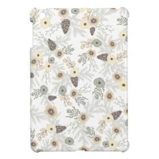 Cozy Winter Floral Pattern iPad Mini Cover