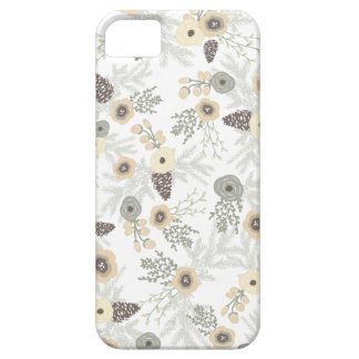 Cozy Winter Floral Pattern iPhone SE/5/5s Case