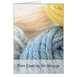 Cozy Yarn Greeting Card