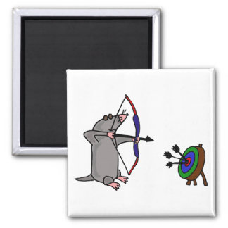 CP- Blind Mole in Archery Competition 2 Inch Square Magnet