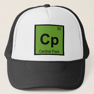 Cp - Central Park New York City Chemistry Symbol Trucker Hat