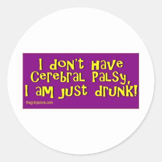 cp_drunk classic round sticker