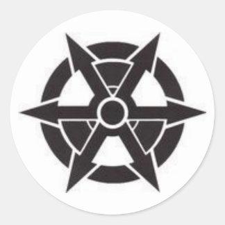 cp logo 2 classic round sticker