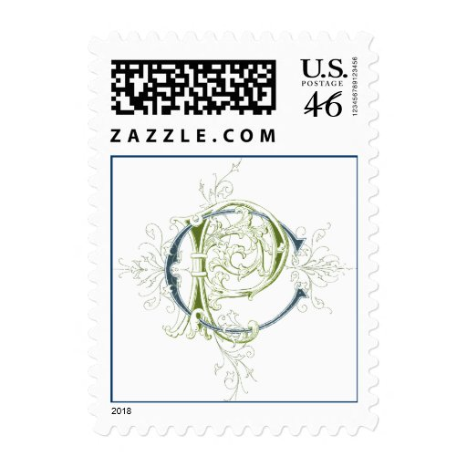 CP or PC Vintage Monogram Postage Stamps