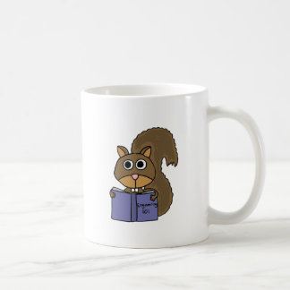 CP- Squirrel Reading Book Cartoon Coffee Mug