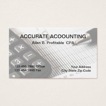 Beach Themed CPA Accountant Business Card