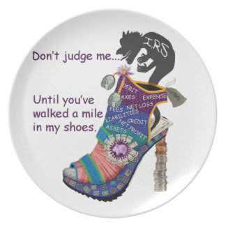 CPA / Accountant Don't Judge Me... Shoe Plate