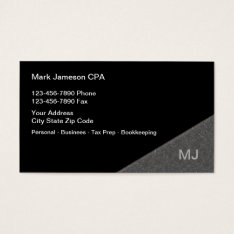 Cpa Accountant Services Business Card at Zazzle