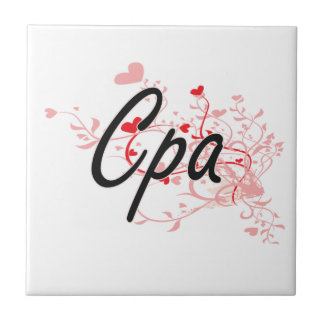Cpa Artistic Job Design with Hearts Tile