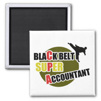 CPA: Black Belt Accountants 2 Inch Square Magnet