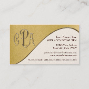cpa certified public accountant business taxes business card - Accountant Business Card