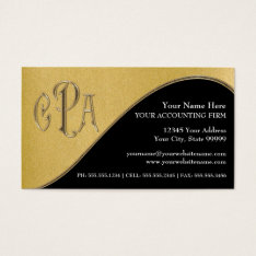 Cpa Certified Public Accountant Business Taxes Business Card at Zazzle