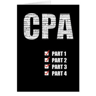 CPA Congratulations Passing All 4 Parts Black Card