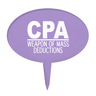 CPA custom color cake toppers