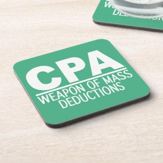CPA custom color coasters