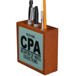 CPA custom color desk organizer