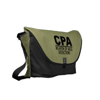 CPA custom color messenger bag