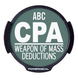 CPA custom color & monogram window decal LED Window Decal