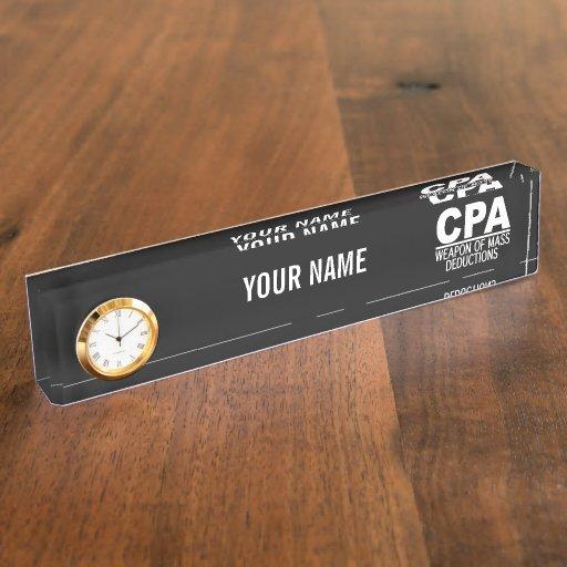 CPA custom color name plate Zazzle