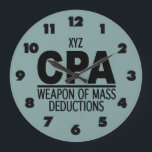 """CPA custom color wall clock<br><div class=""""desc"""">Change the text field to what you want. You can also change the font and its size and color by using the &quot;Customize it&quot; function, as well as add more text fields if you wish. You can also change (edit) the background color of this item to any color of your...</div>"""