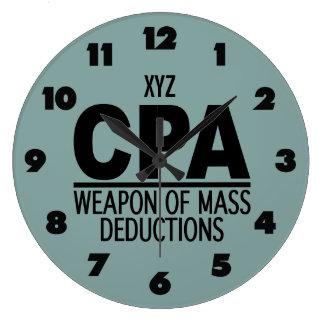 CPA custom color wall clock
