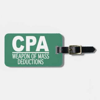 CPA custom luggage tag