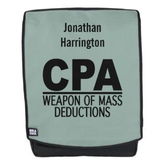 CPA custom name & color backpack