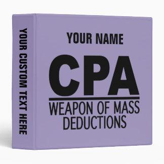 CPA custom name & color binders