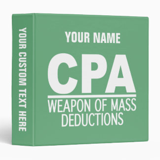 CPA custom name & color binders