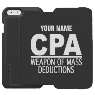 CPA custom name & color wallet cases