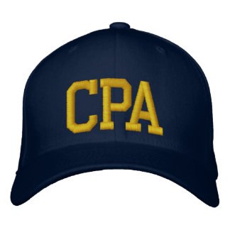 CPA EMBROIDERED BASEBALL CAP