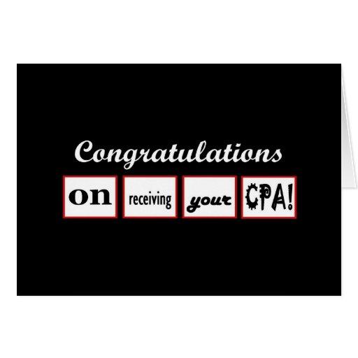 CPA - enhorabuena CONOCIDA DE ENCARGO - Tarjeta De Felicitación