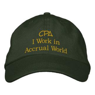 CPA I Work in Accrual World Baseball Cap