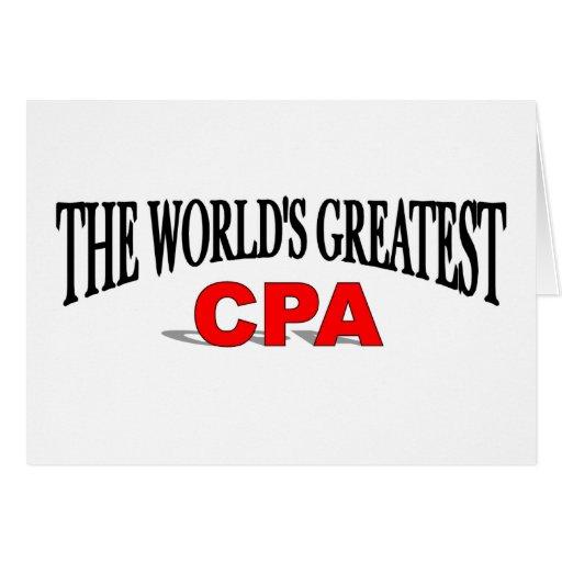 CPA más grande del mundo Tarjeta De Felicitación