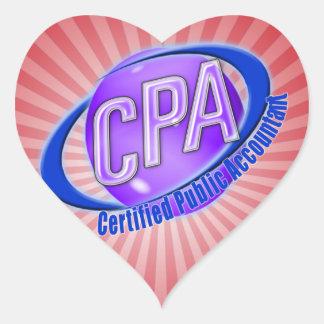CPA ORB SWOOSH LOGO CERTIFIED PUBLIC ACCOUNTANT HEART STICKER