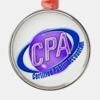 CPA ORB SWOOSH LOGO CERTIFIED PUBLIC ACCOUNTANT METAL ORNAMENT