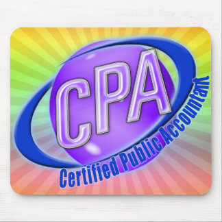 CPA ORB SWOOSH LOGO CERTIFIED PUBLIC ACCOUNTANT MOUSE PAD