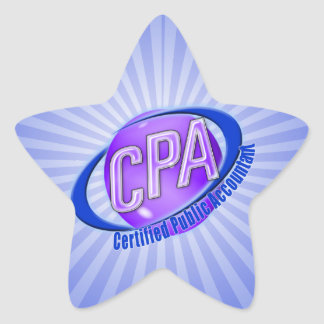 CPA ORB SWOOSH LOGO CERTIFIED PUBLIC ACCOUNTANT STAR STICKER