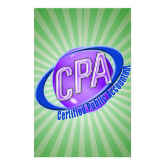 CPA ORB SWOOSH LOGO CERTIFIED PUBLIC ACCOUNTANT STATIONERY