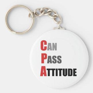 CPA: Puede pasar actitud Llavero Redondo Tipo Pin