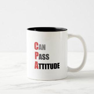 CPA: Puede pasar actitud Taza De Dos Tonos