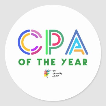 Professional Business CPA Sticker - CPA of the Year