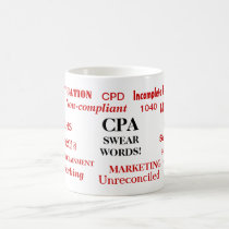 CPA Swear Words! Cruel Funny CPA Joke Coffee Mug