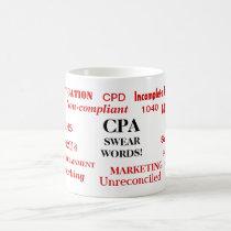 CPA Swear Words! Funny CPA Joke Coffee Mug