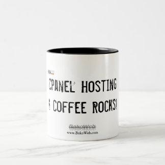 """""""Cpanel Hosting & Coffee Rocks!"""" Coffee Mug"""