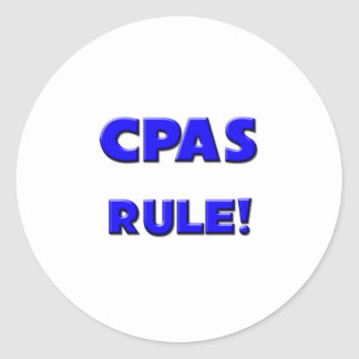 Cpas Rule! Classic Round Sticker