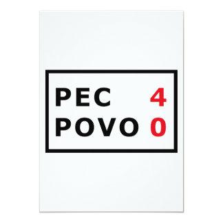 CPE - 4 Povo - 0 Invitación 12,7 X 17,8 Cm